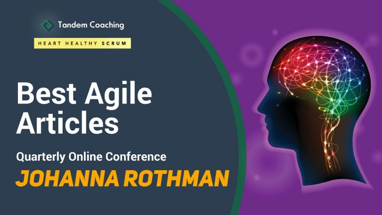 Best Agile Articles Online Conference - Johanna Rothman